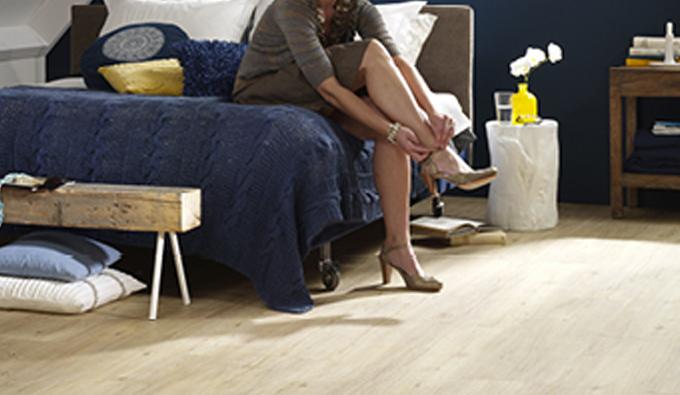 Lichtkleurige PVC vloer