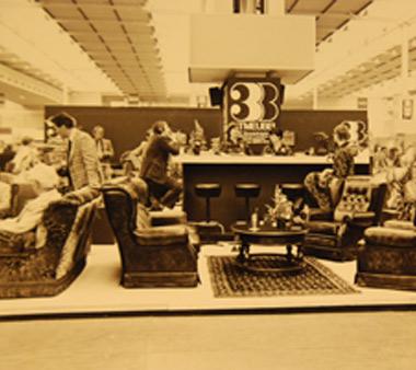 Oude foto van woonmerk 3B in oude woonwinkel