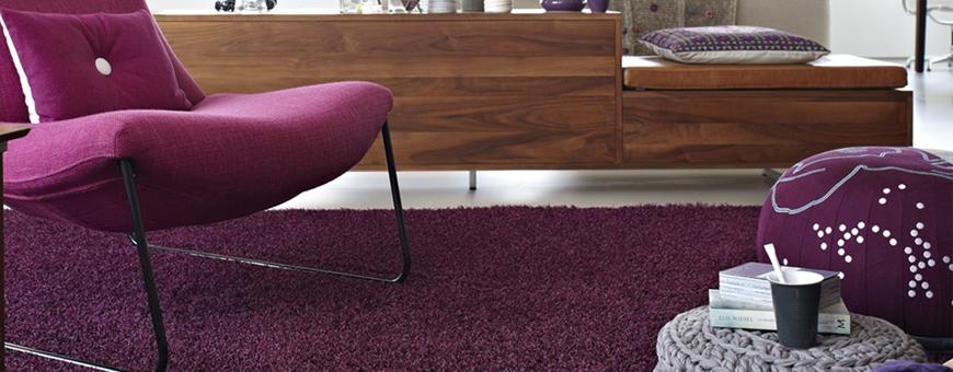 Paars tapijt van woonmerk Bonaparte