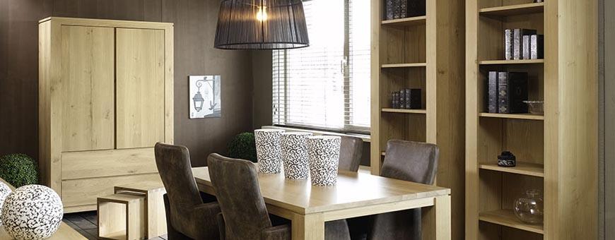 Kasten en eetkamer meubelen van woonmerk Brouwers